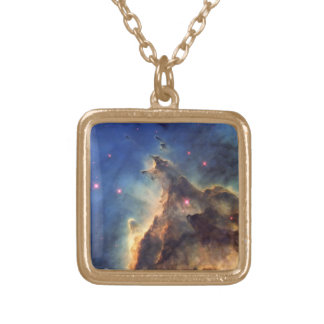 Nebula NGC 2174 Gold Plated Necklace