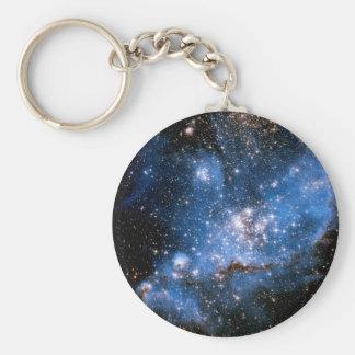 Nebula NGC 346 Infant Stars - Hubble Space Photo Keychain