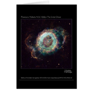 Nebula NGC 6369 The Little Ghost Hubble Telescope Card