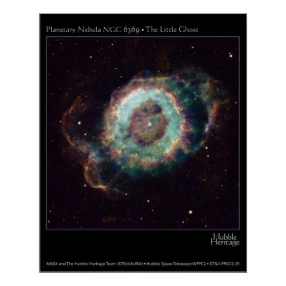 Nebula NGC 6369 The Little Ghost Hubble Telescope Poster