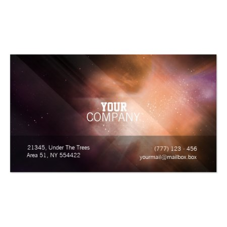 Modern Artistic Nubula Astronomer Business Cards
