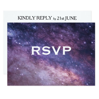 Nebula Space Cosmos Wedding RSVP Card