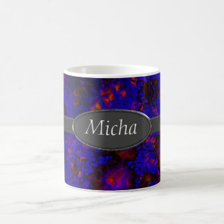 Nebula Space Explosion Monogram Coffee Mug
