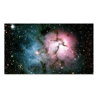 Nebula stars galaxy business card