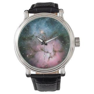 Nebula stars galaxy hipster geek cool nature space wrist watches
