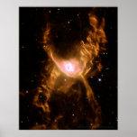 Nebulosa 16x20 (16x20) roja de la araña impresiones