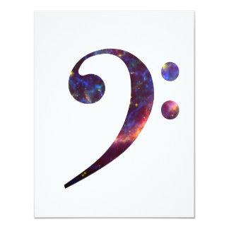 """Nebulosa 1 del clef bajo invitación 4.25"""" x 5.5"""""""