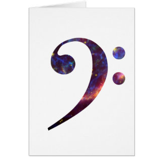 Nebulosa 1 del clef bajo tarjeta pequeña