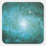 Nebulosa 2 pegatinas cuadradas