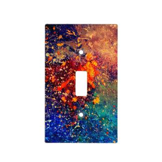 Nebulosa abstracta brillante intrépida tumultuosa tapa para interruptor