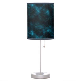 Nebulosa azul lámpara de mesa