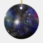 Nebulosa azul ornaments para arbol de navidad