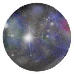 Nebulosa azul platos de comidas