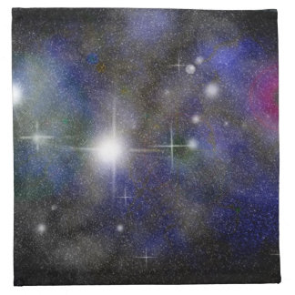 Nebulosa azul servilletas de papel