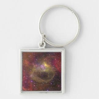 Nebulosa Bat99-2 de la emisión Llavero Cuadrado Plateado