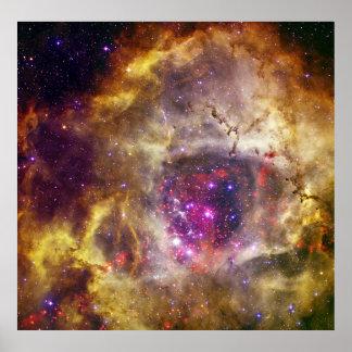 Nebulosa Caldwell 49 del rosetón el corazón de un  Posters