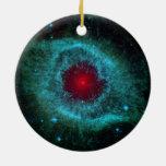 Nebulosa colorida de la hélice adorno de navidad