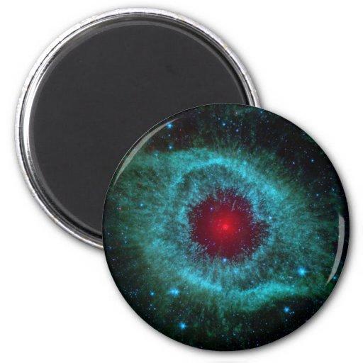 Nebulosa colorida de la hélice imán redondo 5 cm