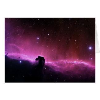 Nebulosa colorida del horsehead felicitacion