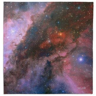Nebulosa con monograma de Carina - universo impres Servilleta De Papel
