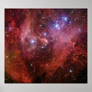 Nebulosa corriente del CEN de la lambda de la Póster