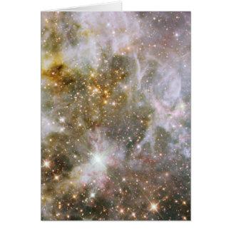 Nebulosa de 30 Doradus en la luz infrarroja Tarjeta De Felicitación