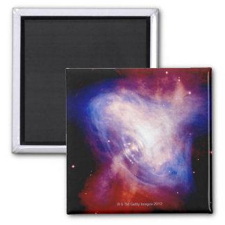 Nebulosa de cangrejo 3 imán cuadrado