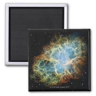 Nebulosa de cangrejo 4 imán cuadrado