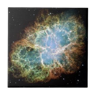 Nebulosa de cangrejo azulejo ceramica