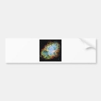 Nebulosa de cangrejo etiqueta de parachoque