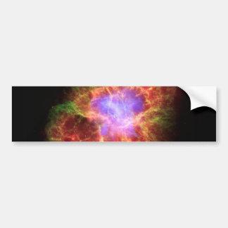 Nebulosa de cangrejo pegatina para auto