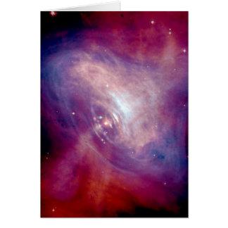 Nebulosa de cangrejo de Chandra Tarjeta De Felicitación