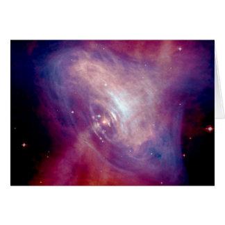 Nebulosa de cangrejo de la NASA Chandra Tarjeta De Felicitación