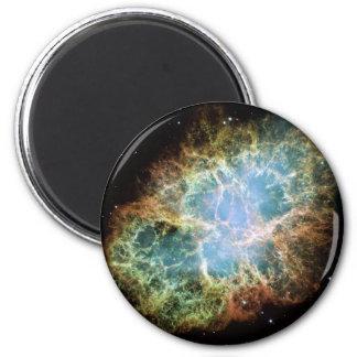 Nebulosa de cangrejo de NASAs Imán Redondo 5 Cm