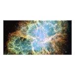 Nebulosa de cangrejo del trullo tarjetas fotográficas personalizadas