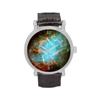 Nebulosa de cangrejo en el tauro - imagen del reloj