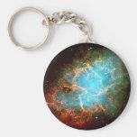 Nebulosa de cangrejo en el tauro - universo llavero redondo tipo pin