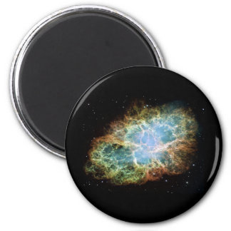 Nebulosa de cangrejo imán redondo 5 cm