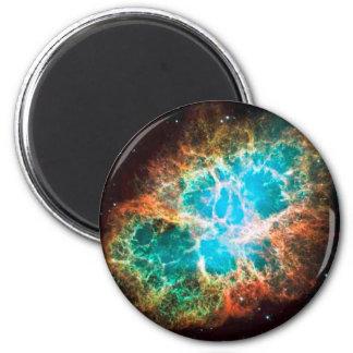 Nebulosa de cangrejo inminente imán redondo 5 cm