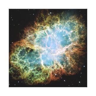 Nebulosa de cangrejo lona envuelta para galerias