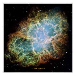 Nebulosa de cangrejo poster