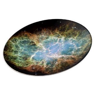 Nebulosa de cangrejo plato de cerámica