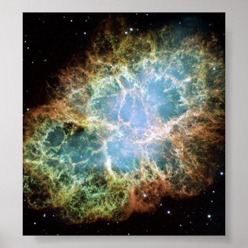 Nebulosa de cangrejo póster