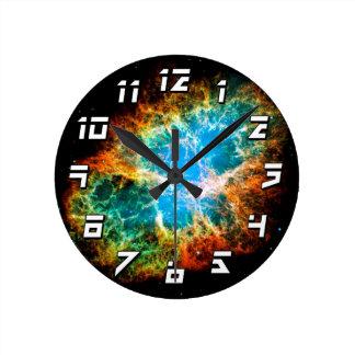 Nebulosa de cangrejo reloj redondo mediano