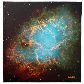 Nebulosa de cangrejo rubricada en tauro servilletas imprimidas