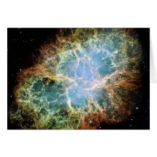 Nebulosa de cangrejo tarjeta de felicitación