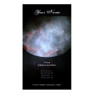Nebulosa de cangrejo tarjetas de visita
