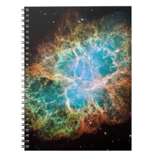 Nebulosa de cangrejo - telescopio de Hubble Libreta