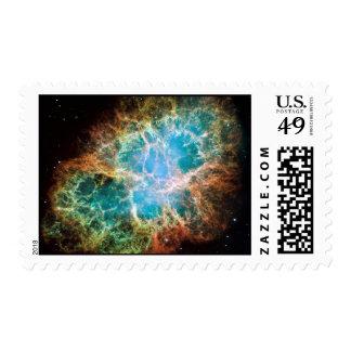 Nebulosa de cangrejo - telescopio de Hubble Estampilla