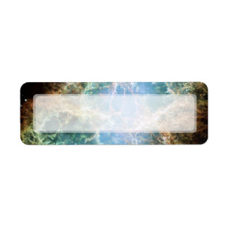 Nebulosa de cangrejo - telescopio de Hubble Etiqueta De Remite